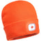 B029 Beanie LED Head Light USB Rechargeable Orange Portwest at Ted Johnsons
