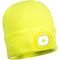 B029 Beanie LED Head Light USB Rechargeable Yellow Portwest at Ted Johnsons