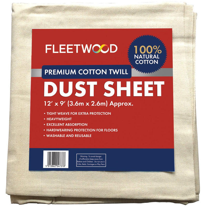 Fleetwood Dust Sheet-12X9Ft Canvas
