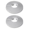 EasiPlumb Trim Hole Pipe Covers 3/4in (2) White
