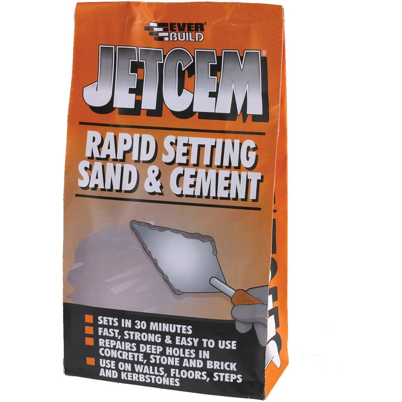 Everbuild Sand&Cement Mix (6Kg Bag) Jetcem Rapid Set