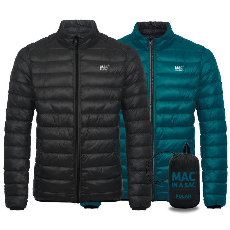 Mac in a Sac Reversible Down Jacket in Jet Black / Teal at Ted Johnsons
