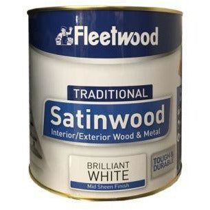 Fleetwood Traditional Oil Based Satinwood Brilliant White