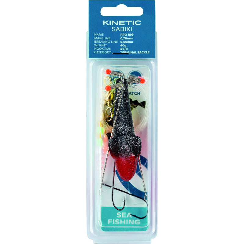 Kinetic Sabiki Pro 60G No2 0 Prl Glit /Red Target