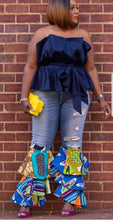 Load image into Gallery viewer, Ankara Patchwork Tiered Jean