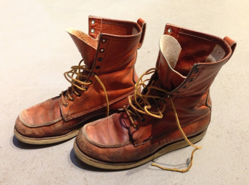 Hans his amazing pair of Red Wing Irish Setter boots