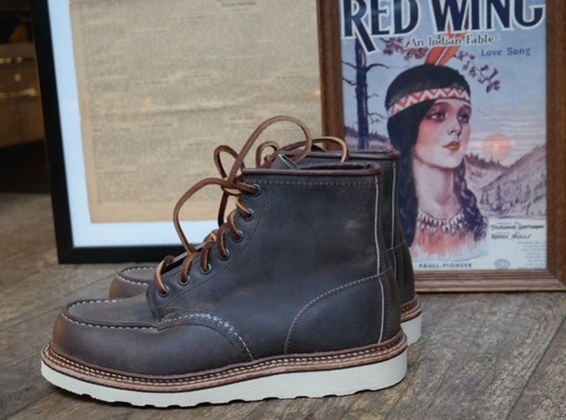 Exclusive and limited: the Red Wing Shoes 8883 6'' Classic Moc Toe in Concrete Rough & Tough!