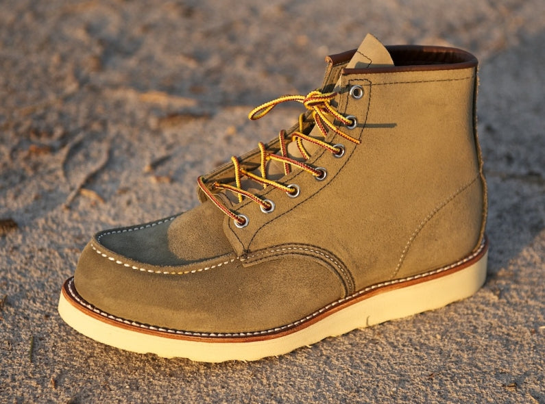 Back and better than ever; the Red Wing Shoes 8881 6'' Classic Moc Toe in Olive Mohave!