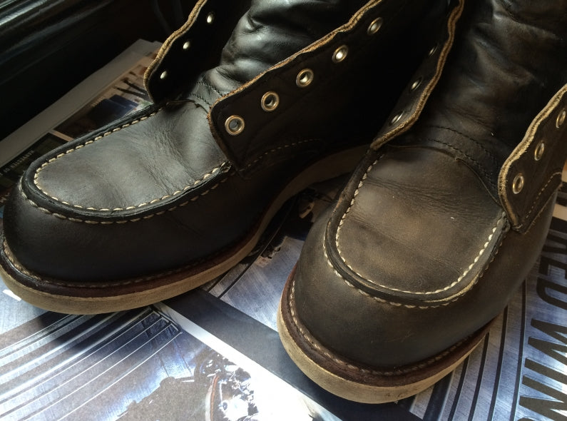 Red Wing Shoe Store Amsterdam Shoe Care Sessions; the 8890 Classic Moc Toe in Charcoal Rough & Tough