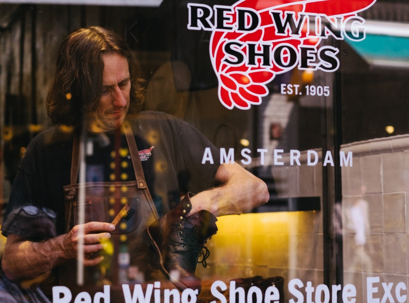 Official Shoe Care day at the Red Wing Shoe Store Amsterdam with Ger Wijsman