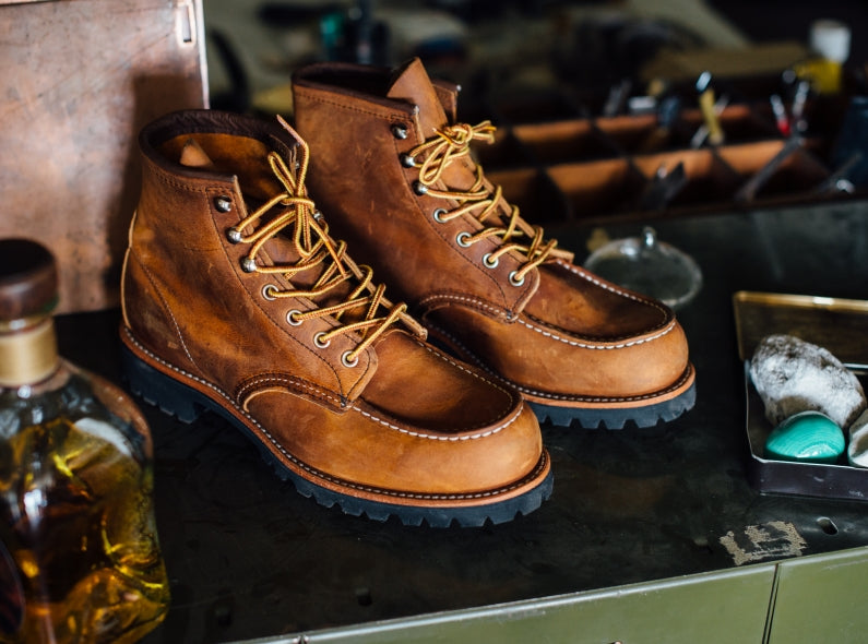 Red Wing Shoe Store Exclusive release: the 2942 Roughneck Moc Toe in Copper Rough & Tough