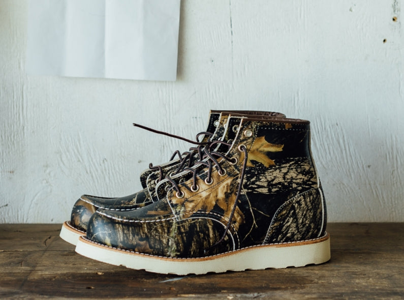 New release: the Red Wing Shoes 8884 Classic Moc Toe in Mossy Oak Camouflage!