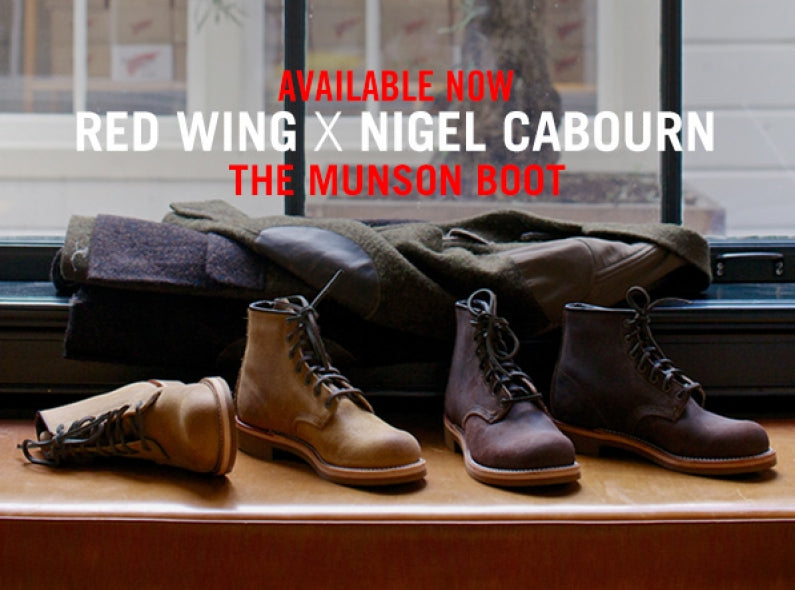Red Wing x Nigel Cabourn collaboration: The Munson Boot