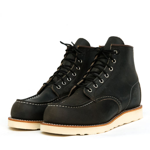 "8890 6"" Classic Moc Toe Charcoal Rough and Tough"