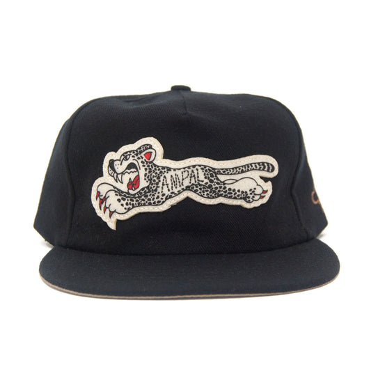 Ampal Creative - Cheetah - Black Wool Strapback