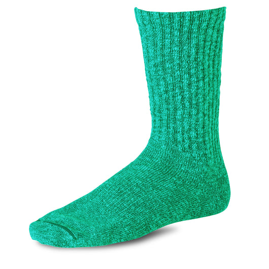 Cotton Ragg Overdyed Socks - Green/Light Green