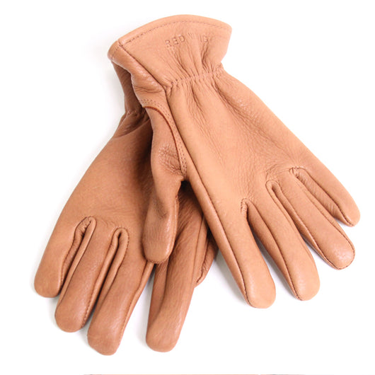 Lined Gloves in Nutmeg Buckskin