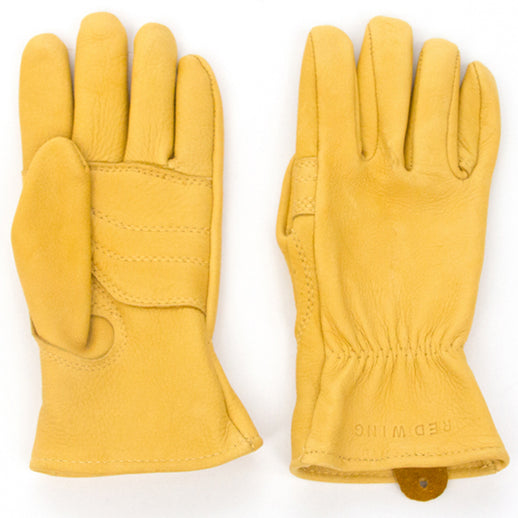 Unlined Glove in Yellow Buckskin Leather