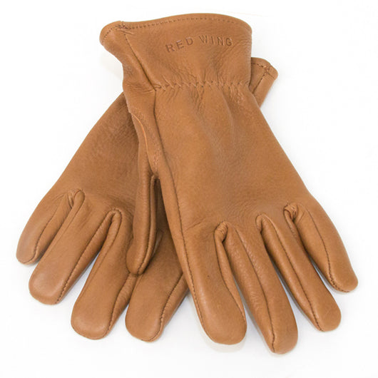 Unlined Glove in Nutmeg Buckskin Leather