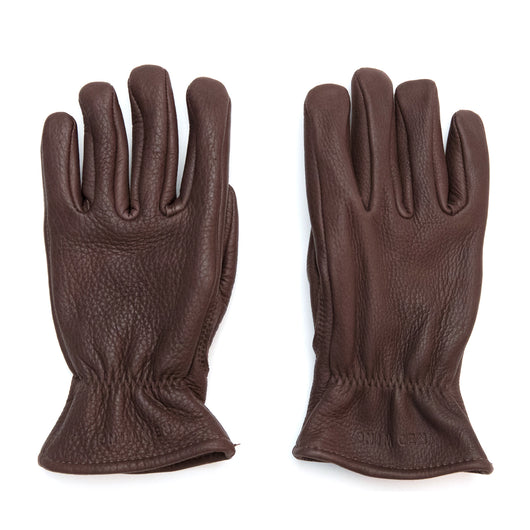 Lined Gloves in Brown Buckskin