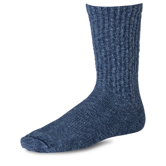 Cotton Ragg Overdyed Socks - Navy/Blue