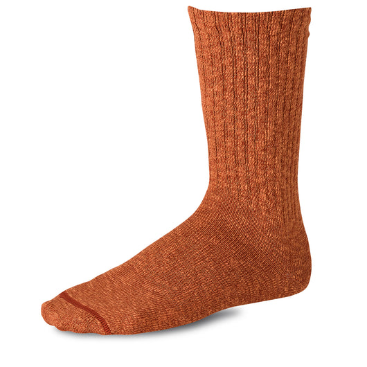 Cotton Ragg Overdyed Socks - Rust/Orange