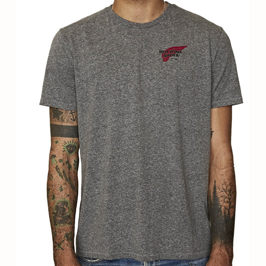 Red Wing Logo Grey T-shirt