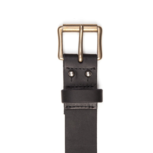 Black Pioneer Leather Belt