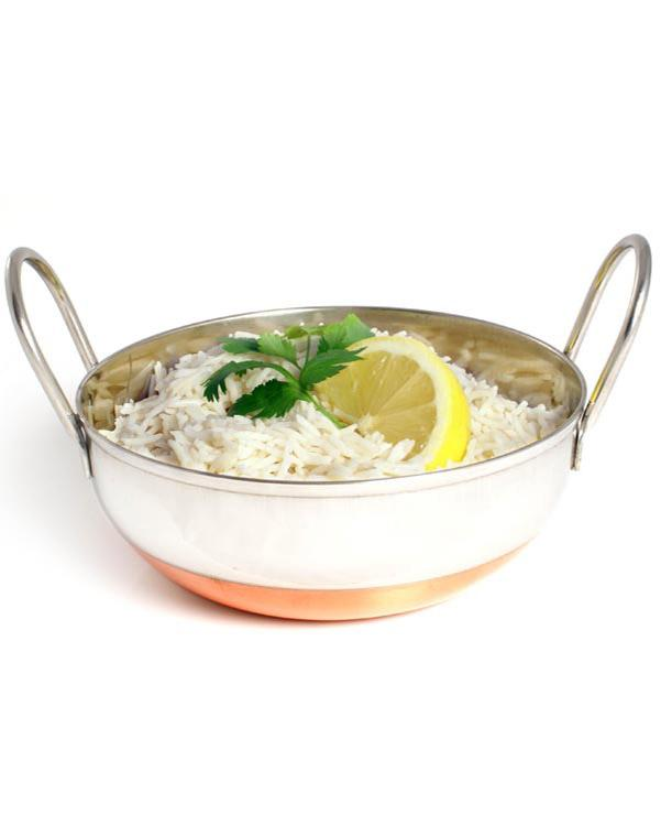 Balti Dish Stainless Steel Copper Base  20cm 32OZ