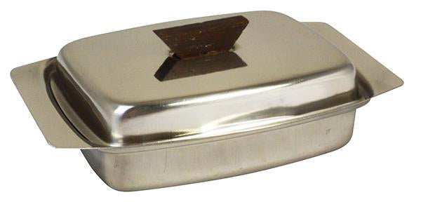 Butter Dish Stainless Steel Lid With Wooden Knob