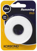 Korbond Hemming Web 20m x 2cm, Bonding and Craft Projects – NO Sewing Required – Ideal for Hems, Jeans, Work Trousers, Badges & School Clothes