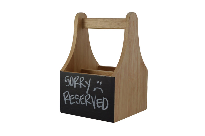 Naturals Caddy With Chalkboard-2 Compartments