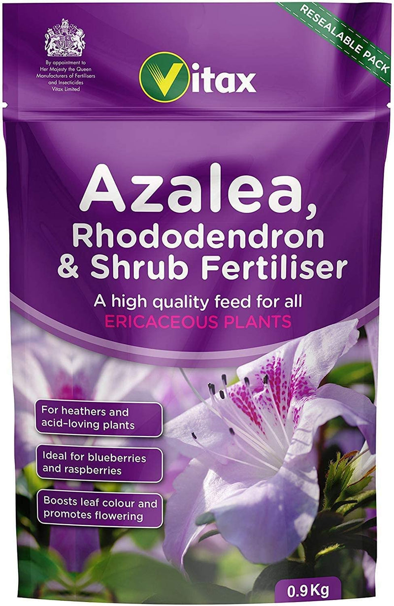 Vitax Azalea, Rhododendron & Shrub Feed 0.9KG Resealable Pouch