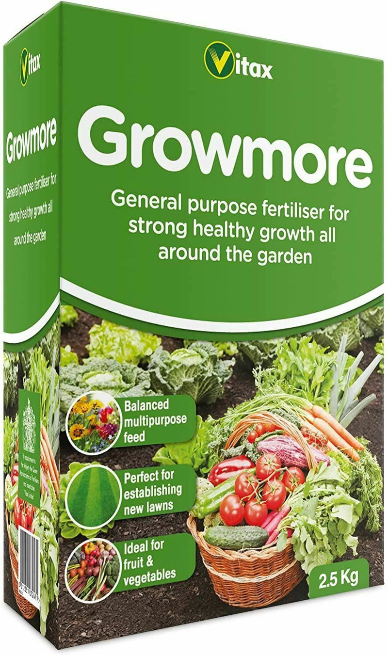 Vitax Growmore All Purpose Garden Flower Lawn Plant Food Feed Fertiliser 1.25kg