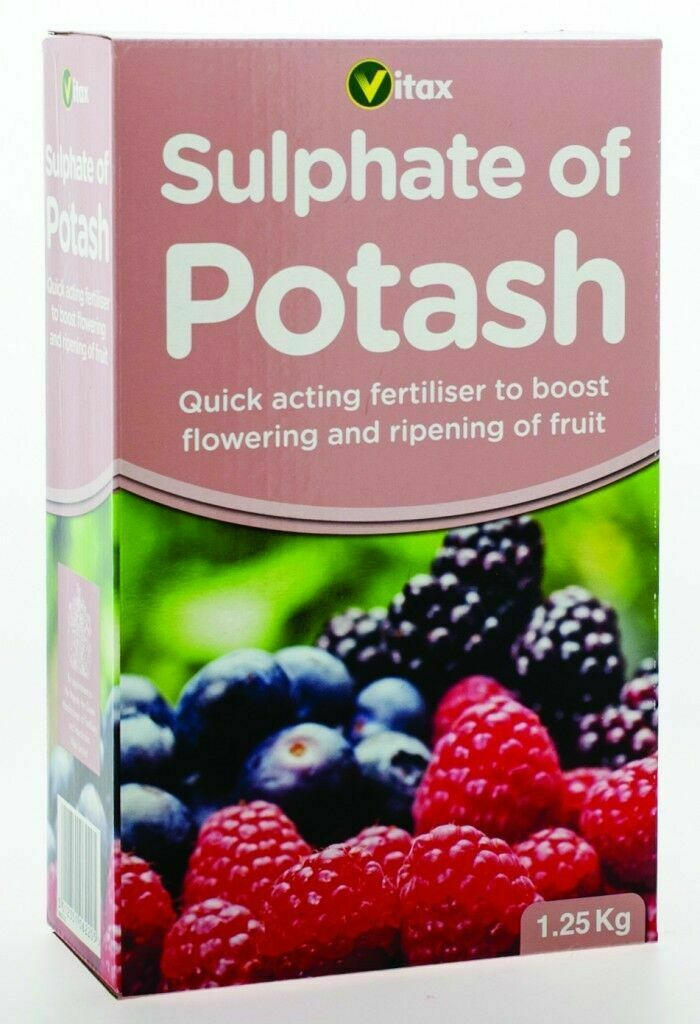 Vitax Sulphate of Potash 1.25 kg Fruit & Flower Enhancer Growing Plant Food