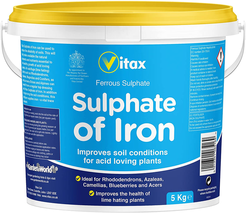 VITAX 5kg Sulphate of Iron Tub