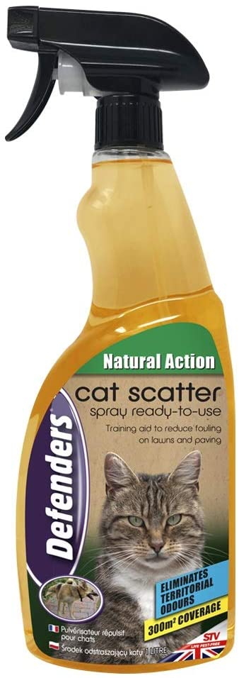 Defenders Cat & Dog Scatter Spray 1 Litre, Garden Cat Repeller