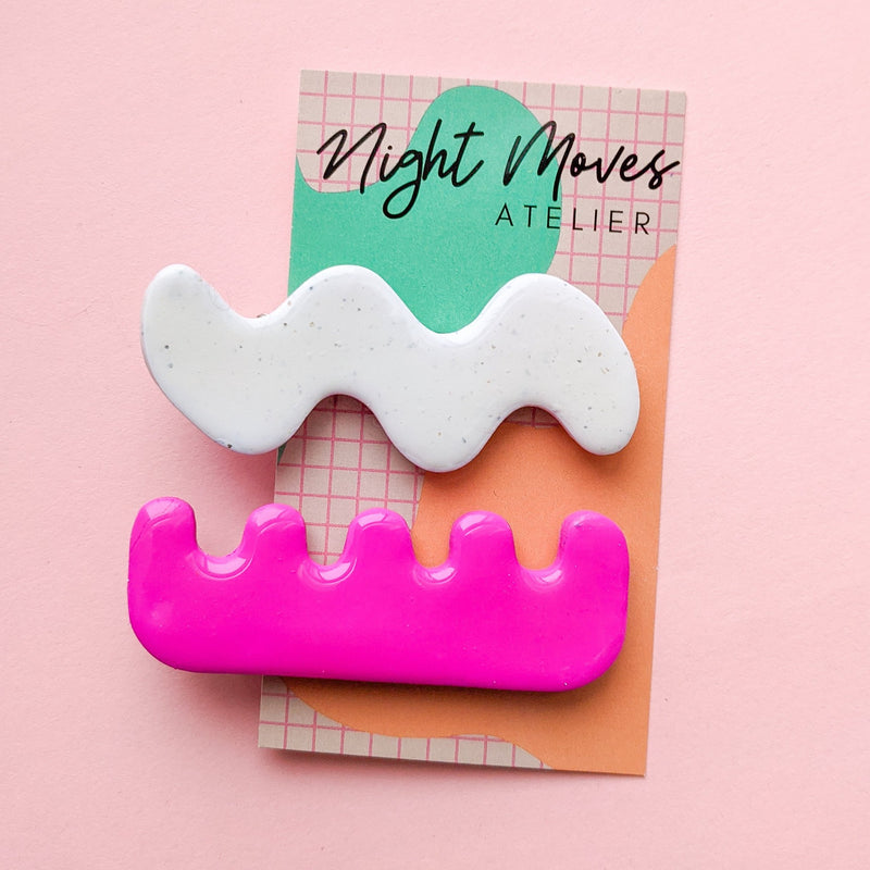 Bright Babe Squiggles Hair Barrette Set
