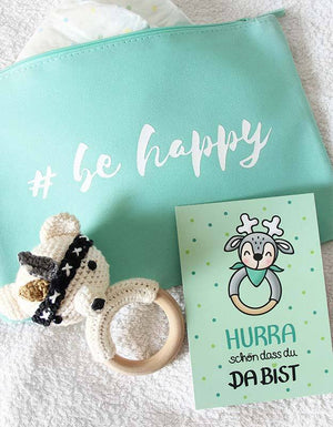 Kosmetiktasche - be happy - mint - nähfein