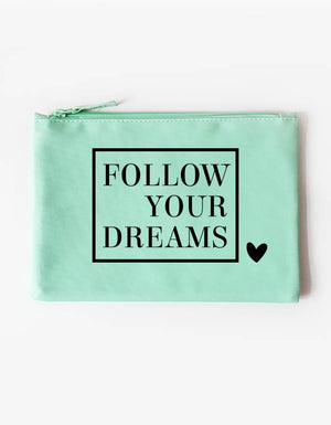 tasche - follow your dreams -mint schwarz