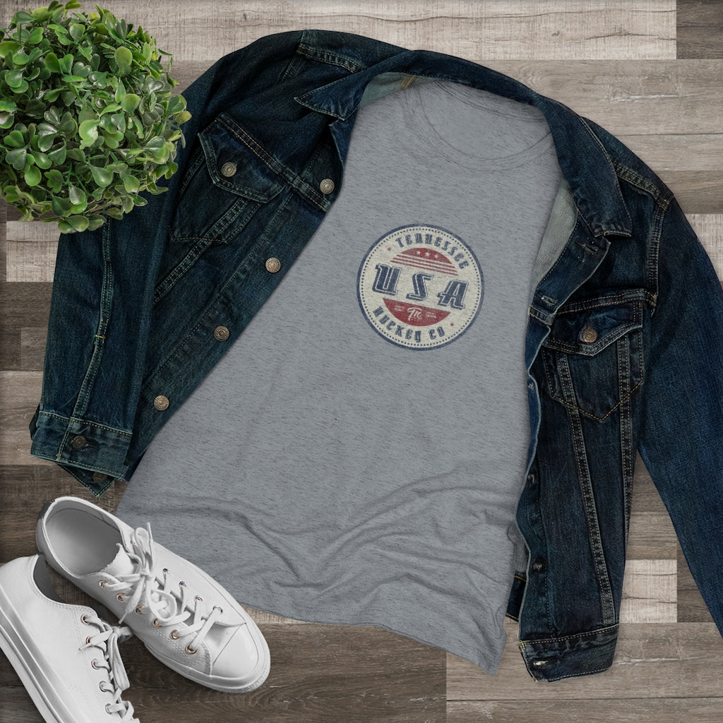 WOMEN'S TN HOCKEY CO. RETRO USA TEE