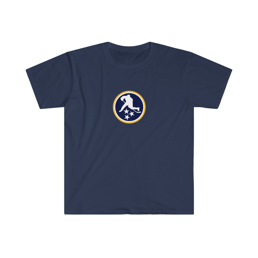 TN HOCKEY CO. ICON TEE PREDS GOLD & BLUE