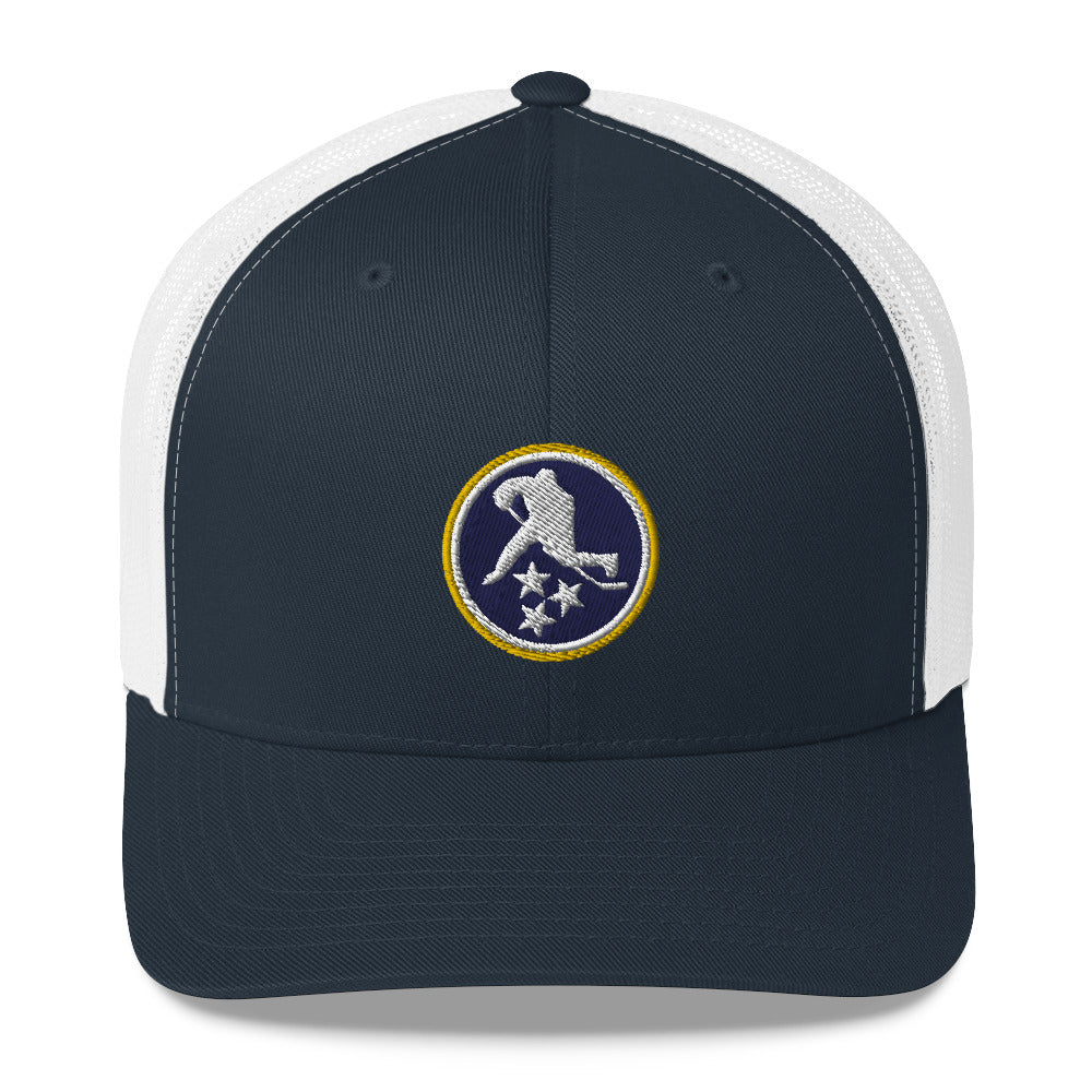 TN HOCKEY CO. NASHVILLE COLORS TRUCKER HAT