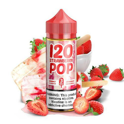 120 Strawberry Pop by Mad Hatter - CravingVapes