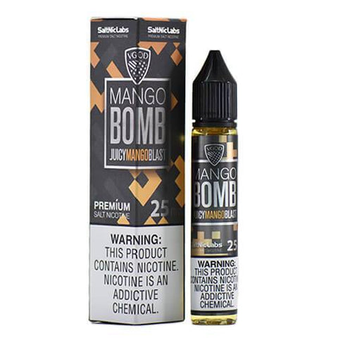 VGOD and SaltNic eJuice - Mango Bomb - CravingVapes