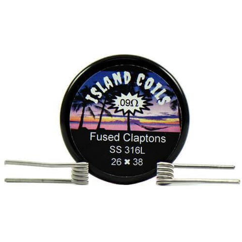 Island Coils by Island Vapezz - Fused Clapton - 0.09 ohm (2 Pack) - CravingVapes