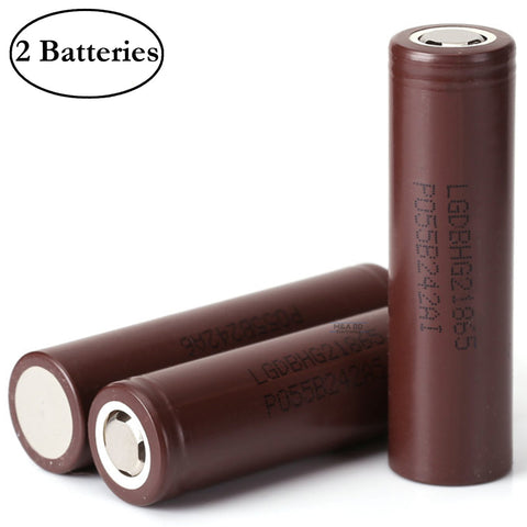 M&A BD IMR 18650 HG2 3000mAh 20A 3.7V Rechargeable High Drain Flat Top Battery (2 Pack)