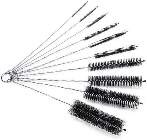 8.2 Inch Nylon Tube Brush Set Pipe Cleaning Brushes for Drinking Straws Glasses Keyboards Jewelry Cleaning,Set of 10