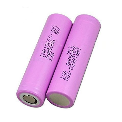 2 100% Authentic Samsung 30Q 3000mAh 3.7V High Drain Flat Top 18650 Battery