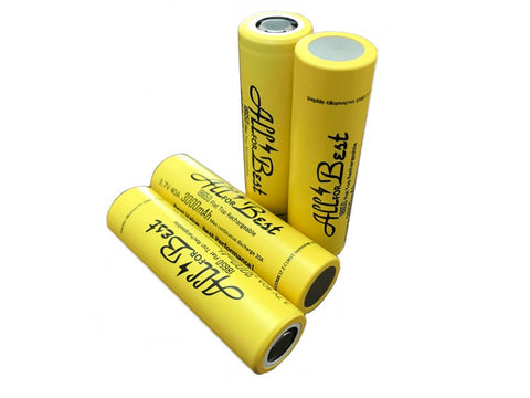 4 Pack of ALLFORBEST 3000mAh, High Drain 3.7V 20A/35A, Flat Top, 18650 Rechargeable Battery